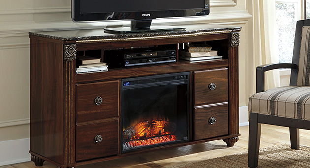Home Entertainment with Fireplace Insert